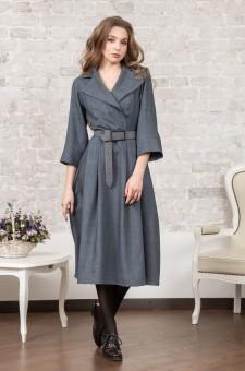 Офисное платье с английским воротником