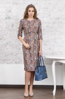 Прямое платье миди из плотного шелка