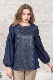 Батистовая блузка из шелка и хлопка