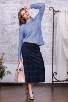 Шерстяной комплект из юбки и джемпера