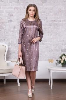 Нарядное платье из шерсти и шелка