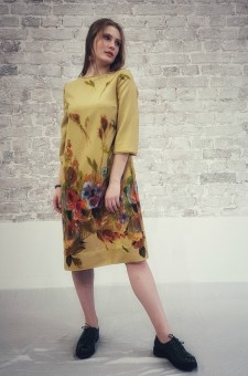 Шерстяное платье Акварели