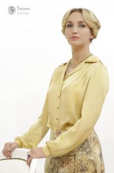 Блузка из атласного шелка