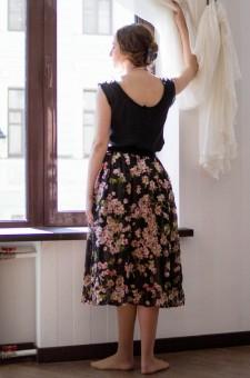 "Шелковая юбка ""Вишневый сад"""