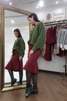 Боровая юбка годе длина миди