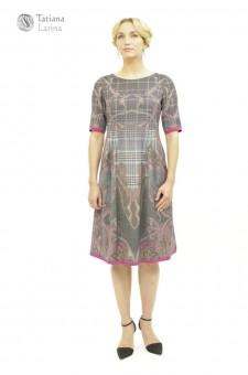 Серое платье из тонкой шерсти