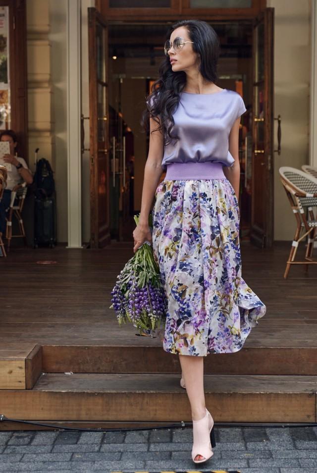 шифоновая летняя юбка