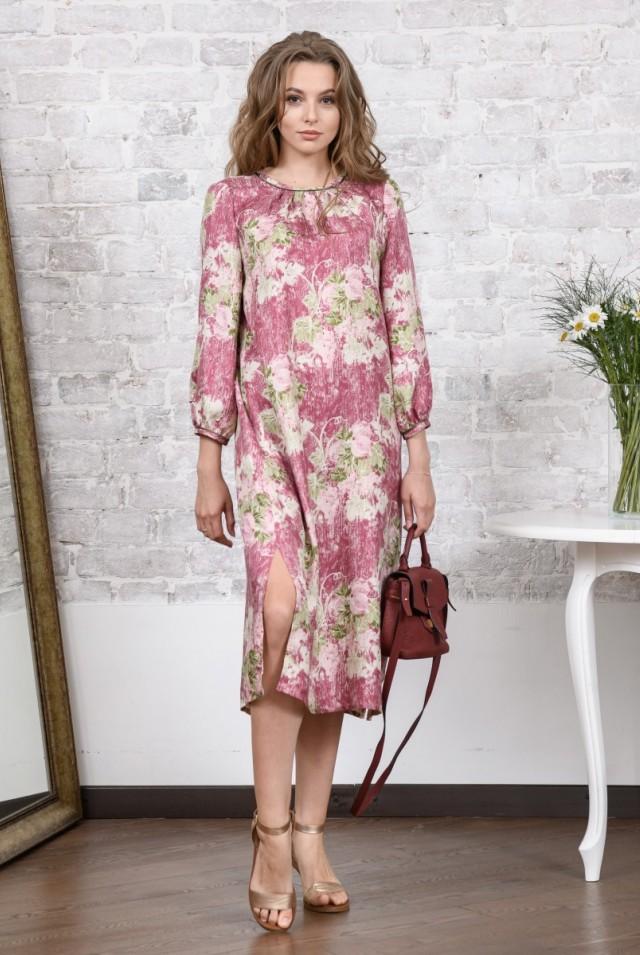легкое платье из натурального шелка