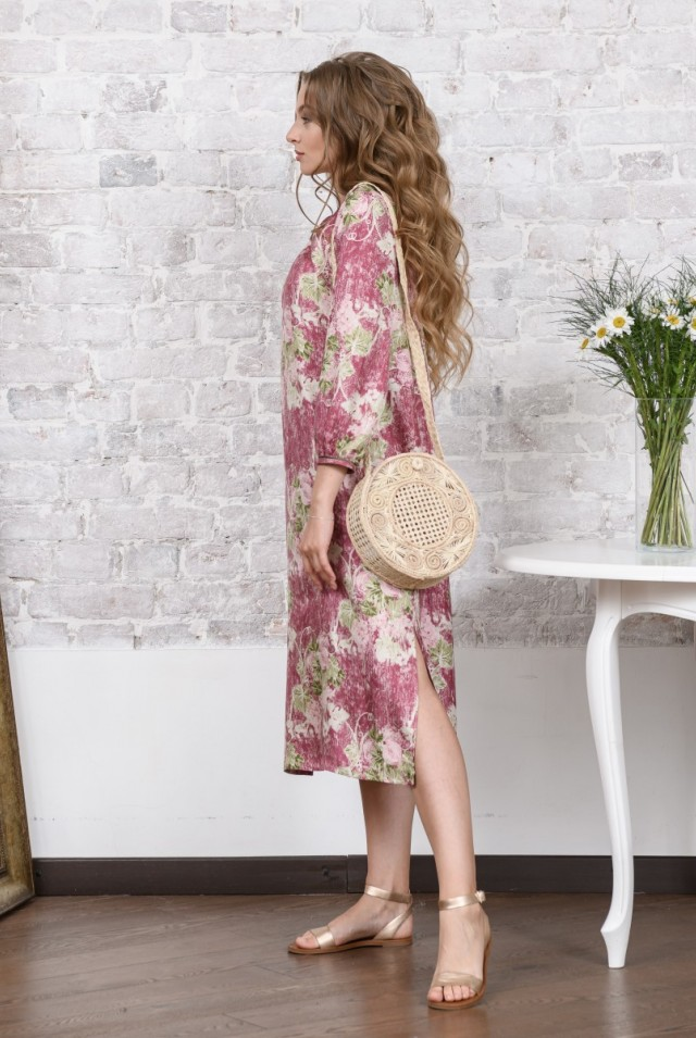 летнее платье из шелка