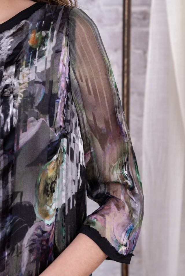 платье из натурального шелкового шифона