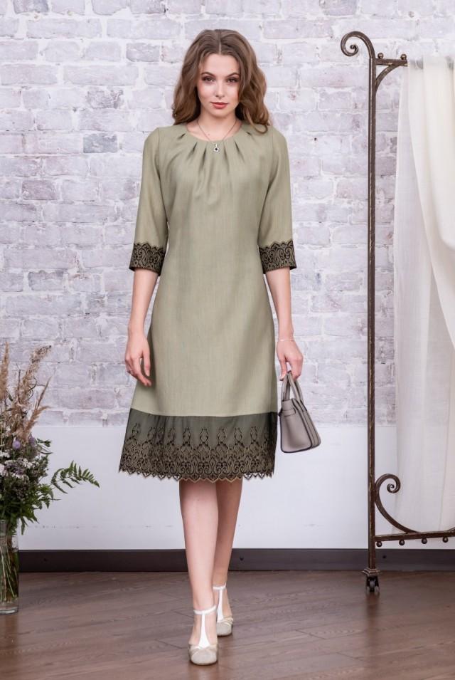 нарядное офисное платье из шерсти зеленое
