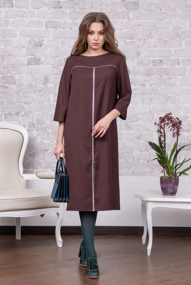 свободное платье 100% шерсть