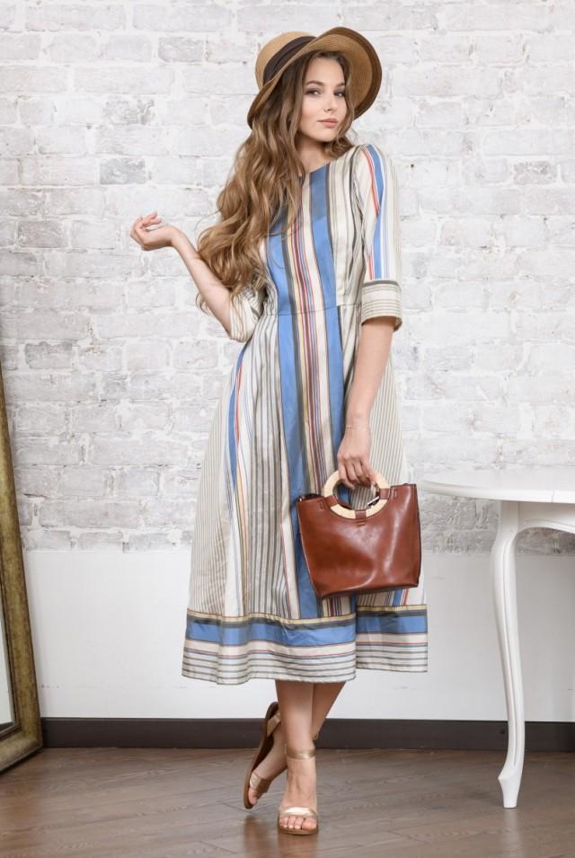 платье миди из натурального шелка