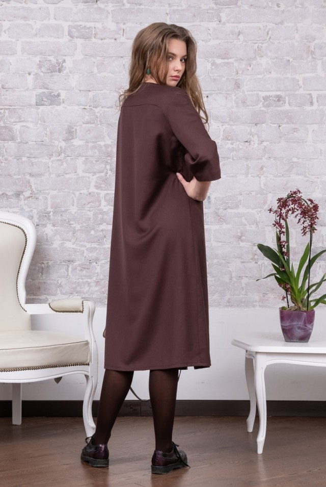шерстяное платье для офиса