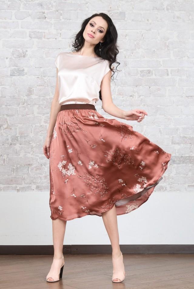 юбка из натурального шелка