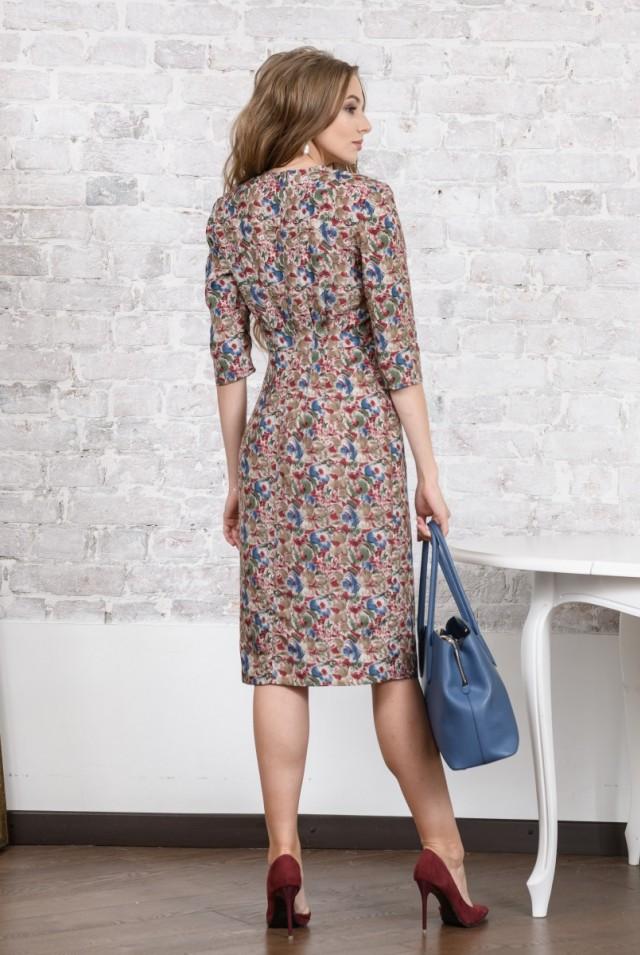 шлкоое платье с цветами