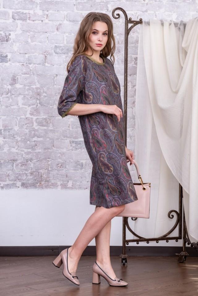 прямое платье шерсть пейсли