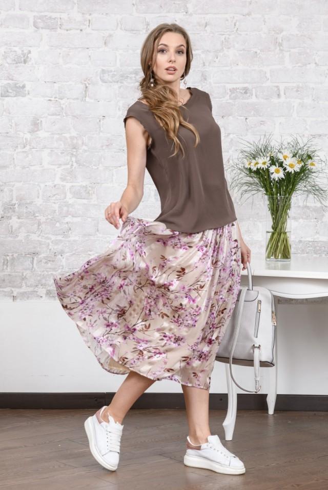 легкая шелковая юбка