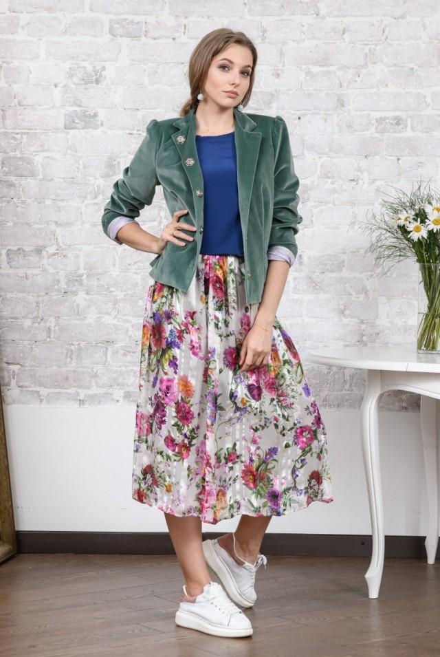 бархатный зеленый пиджак