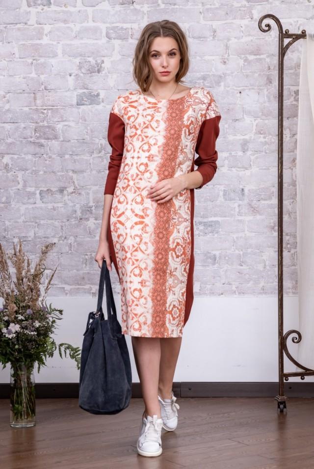 прямое платье из шерсти шелка