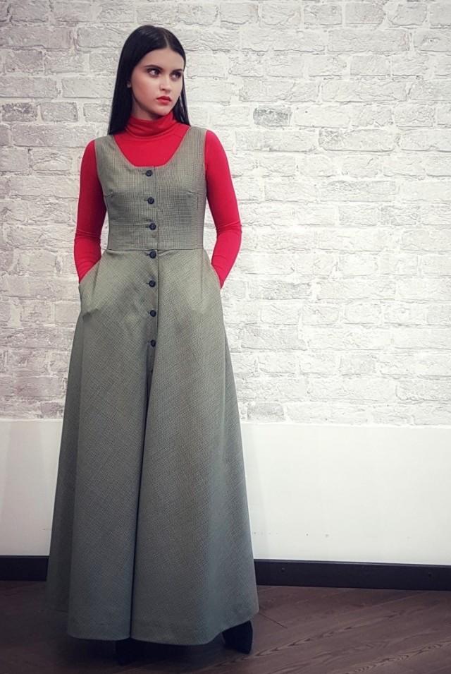 платье сарафан из шерсти