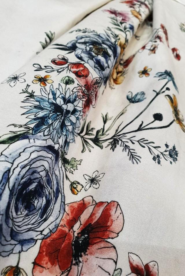 юбка миди цветы