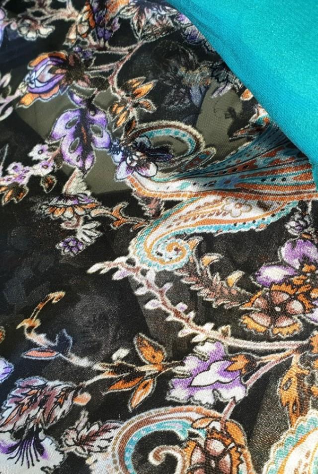 свободное шелковое платье