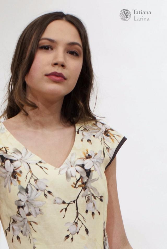 Льняное платье для офиса