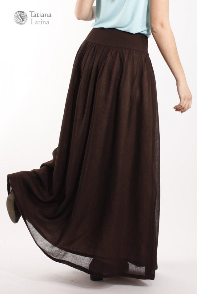 коричневая юбка тонкая шерсть