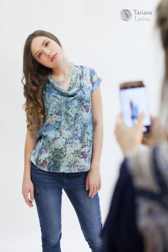летняя блузка из натурального шёлка