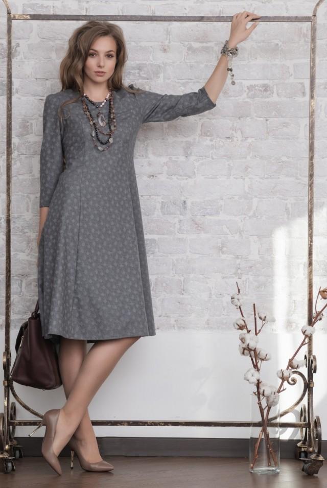 офисное классическое платье шерсть