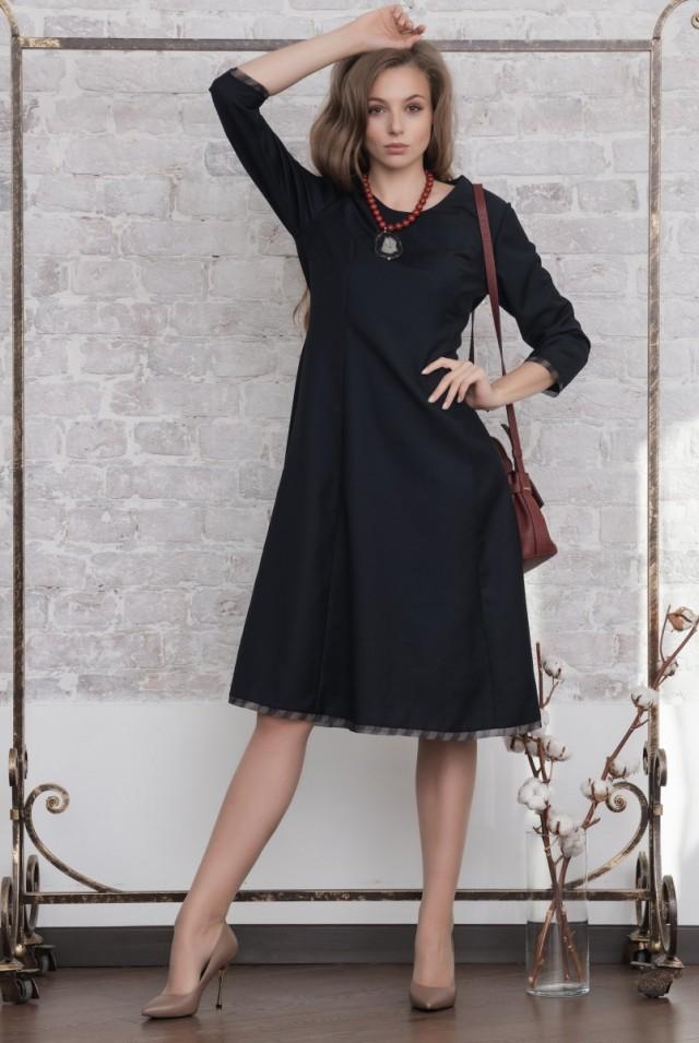 платье шерсть длинный рукав