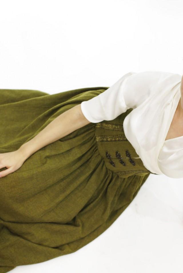 Длинная юбка с корсетом