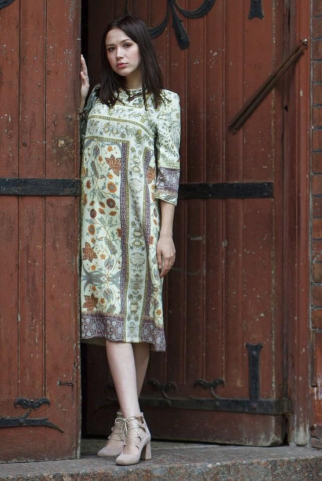 Платье на осень 100% шерсть