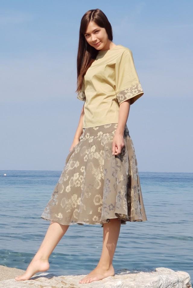 легкая юбка солнце