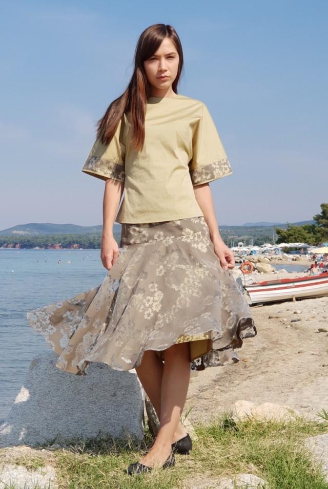 летняя юбка на кокетке
