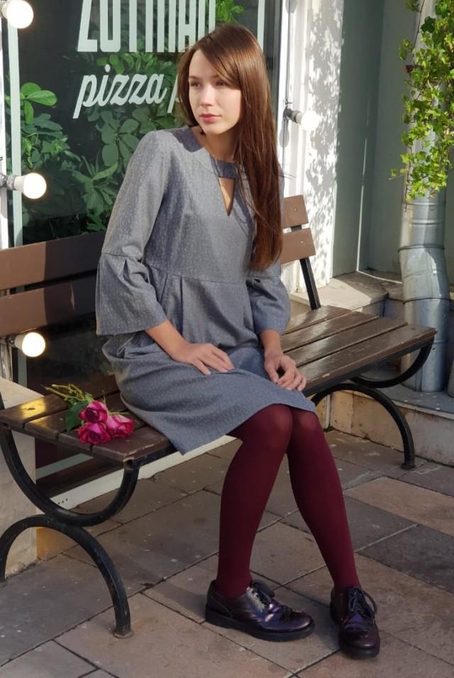 красивое платье на осень шерсть