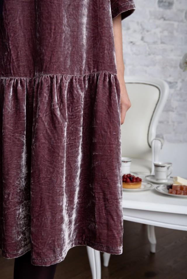 платье бархатное натуральный шелк