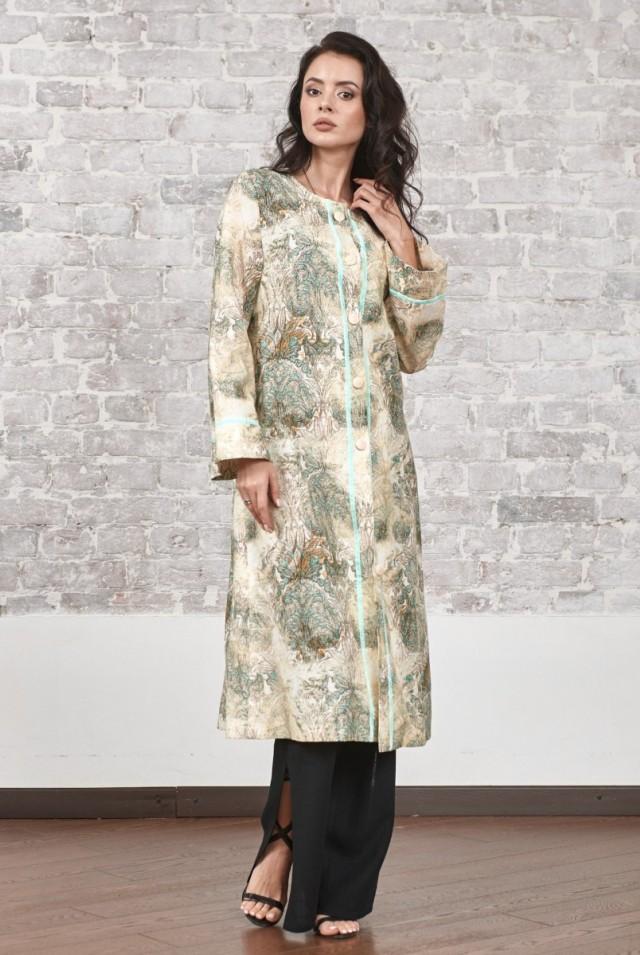 льняное пальто женское