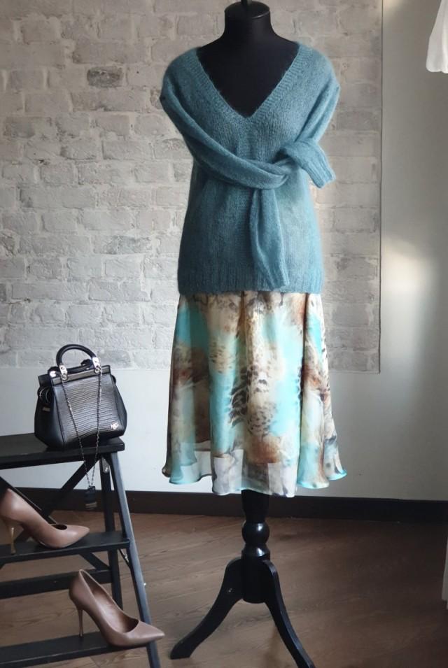юбка из шелкового шифона