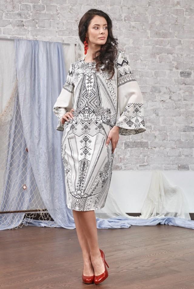 летнее платье из натурального шелка