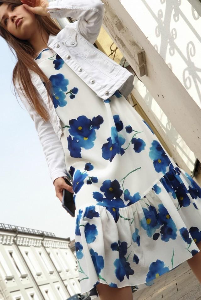 шелковое платье шифон летнее платье