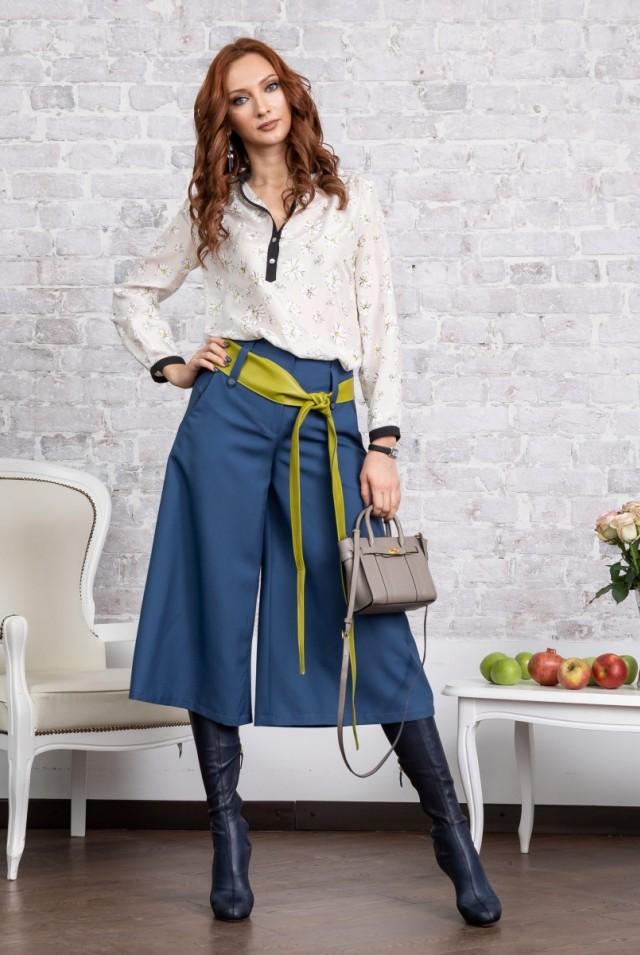 шелковая блузка с цветочным рисунком