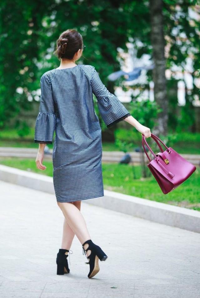платье до колена шёлк 100%