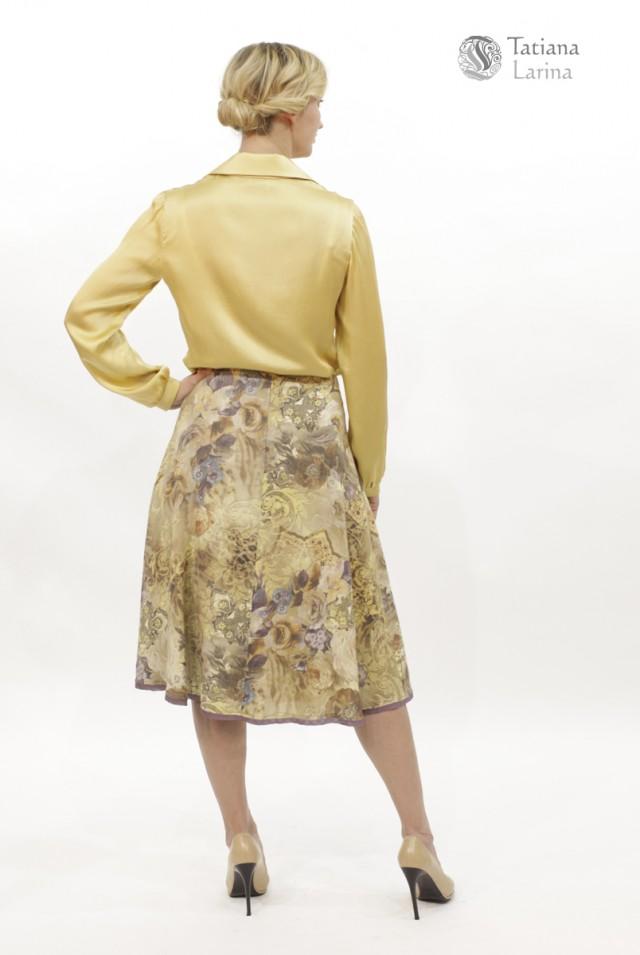 юбка клеш из тонкой шерсти