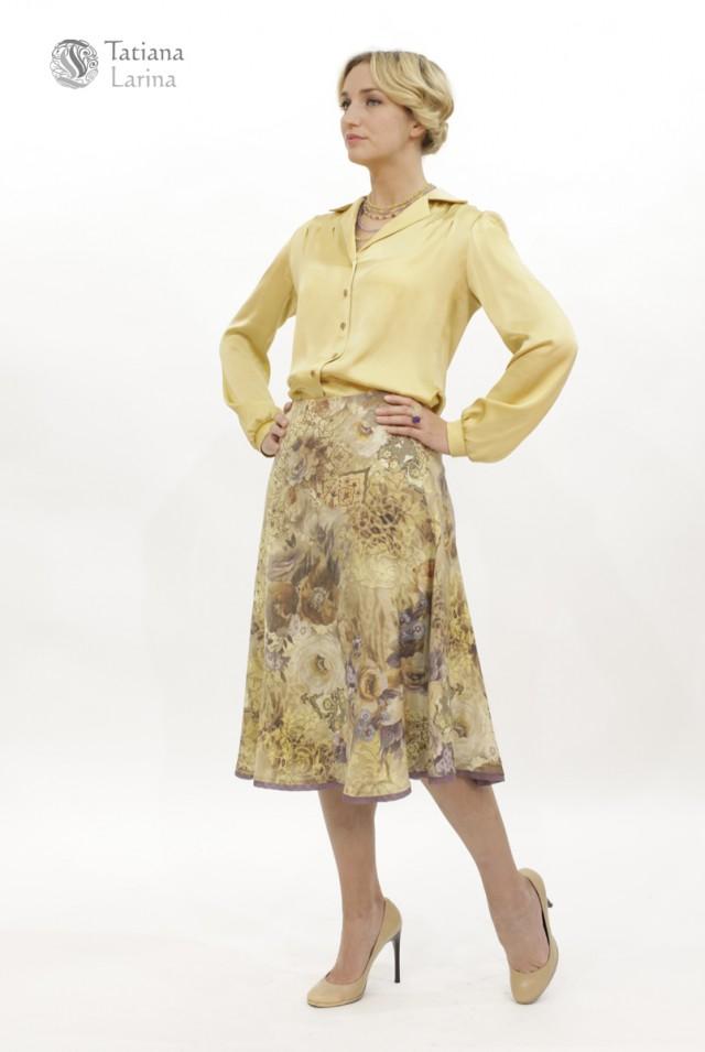 шерстяная юбка миди для офиса