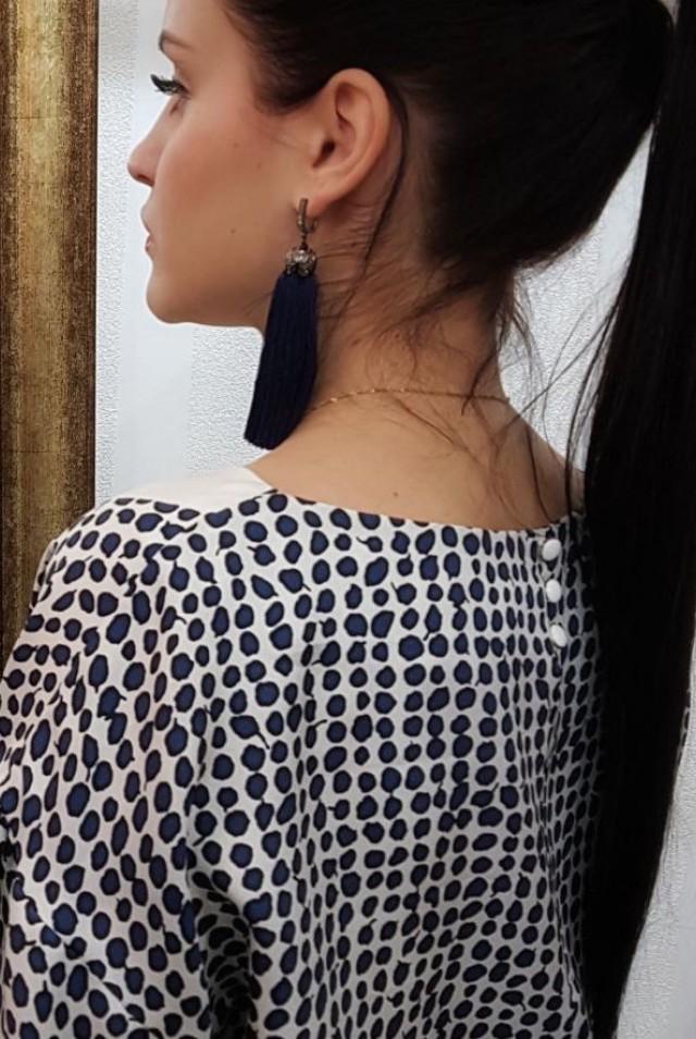 блузка длинный рукав натуральный шелк