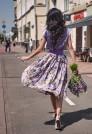 летняя юбка миди