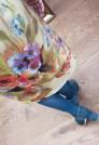 красивое платье на весну, желтое платье из тонкой шерсти, платье с цветами