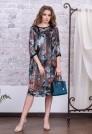 шелковое платье с цветочным рисунком
